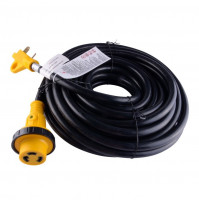 Cordset with Detachable Cable and LED Twist Lock Connector - 25' - 30 A  - 125 V - JS-PW006 - jsp
