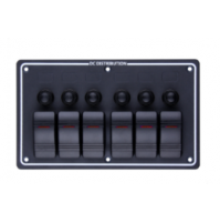 Rocker Switch with 6 Panels - LB6H - ASM