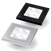 White LED 'Enhanced Brightness' Square Courtesy Lamp - 2XT980580561X - Hella Marine
