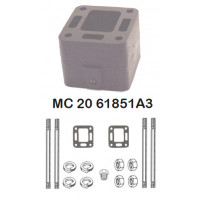 """3"""" Spacer Block Kit Single for Mercruiser 4 and 6 Cylinders - MC-20-61851A3 - Barr Marine"""