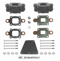 3 Inches Spacer Kit, Replaces MerCruiser part # 864929A3 for Mercruiser V8-4.3L, 5.0L, 5.7L and 6.2L - MC-20-864929A3 - Barr Marine