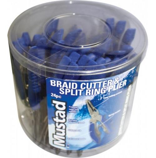 "BRAID CUTTER & SPLIT RING PLIER 5"" – 24 PCS BUCKET - MT029 - Mustad"