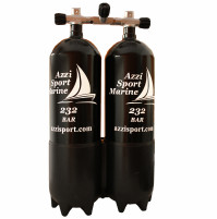 Twin Set Steel Tank with Isolation and Boot - BI 2x10 L - 230B  - TK-A1006625 - AZZI SUB