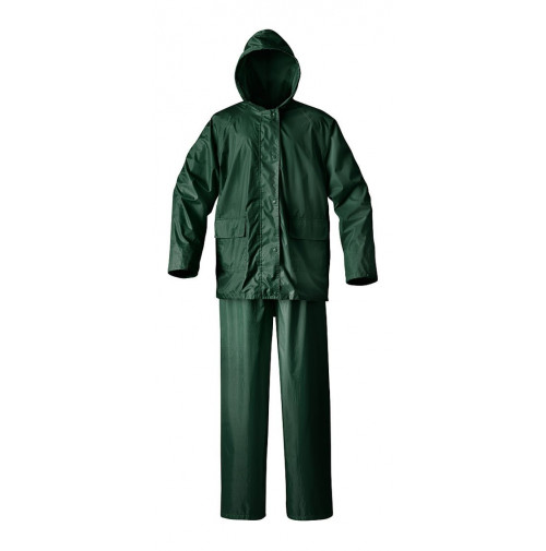 Polyester Fur Lined Rain Suit  - Forest Green Color - RS040-MX - AZZI Tackle