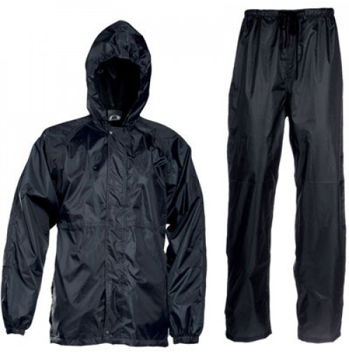 Polyester Fur Lined Rain Suit  - Black Color - RS041-MX - AZZI Tackle