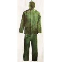 Polyester Rain Suit - Forest Green Color - RS050-MX - AZZI Tackle