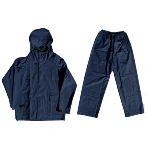 Polyester Rain Suit - Navy Color - RS052-MX - AZZI Tackle