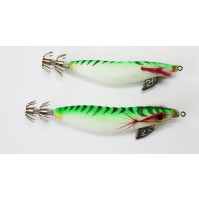 Super Floating Squid Jig with Plomb - Size 2.0 & 2.50 - Green Color - S51-2X - AZZI Tackle