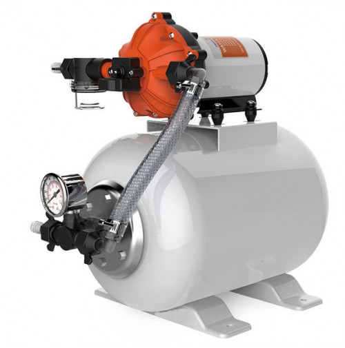 Pump Accumulator Pressure Boost System - 8 L - 24 V - 11.5 LPM - 40 PSI - SFWSK2-030-060-021 - Seaflo