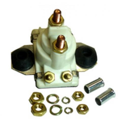 Mercury/Mercruiser Solenoid Used for O/B Starters & PTT Motors 12V Isolated Base - SW104W - API Marine