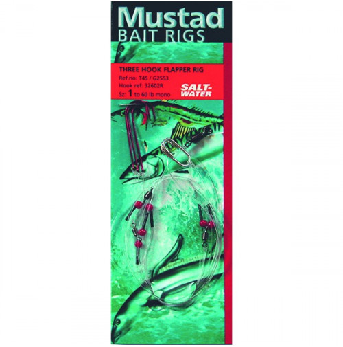Terminal Tackle - THREE HOOK FLAPPER RIG - T45 - Mustad