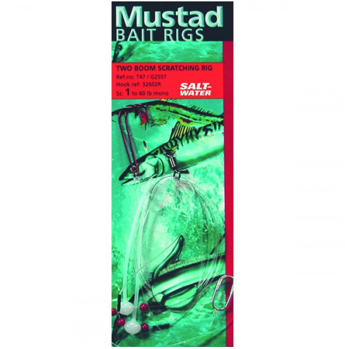 Terminal Tackle - TWO BOOM SCRATCHING RIG - T47 - Mustad