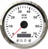 Tachometer with 4 LED ALARM Gauge - Model - CMHB - 0~7000RPM - SS 316 - KY07123 - Kusauto