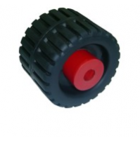 4-3/8'' Ribbed Wobble Roller With Nylon Side Bushes - WR1305 - Multiflex