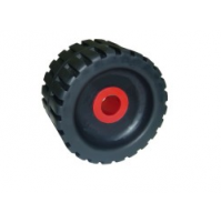 5'' Ribbed Wobble Roller With Nylon Side Bushes - WR1308 - Multiflex