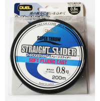Straight Slider Line Soft Fluoro Cast 100% - 200 Meters - YO-H1613-CLX - DUEL