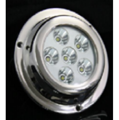 Marine Underwater LED light - 6X3W - From 10 to 30 Volts - With external driver and RGB color controller - ZY-TD6A1-6X3RGB - ASM
