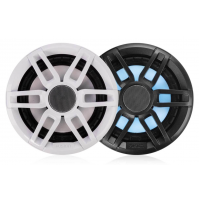 "XS Series 6.5"" 200 Watt Sports Marine Speakers with leds, XS-FL65SPGW - Grey/White color - 010-02196-20 - Fusion"