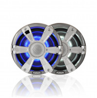 "6.5"" 230 WATT, SG-FL65SPC Coaxial Sports Chrome Marine Speaker with LED's - 010-01428-01 - Fusion"