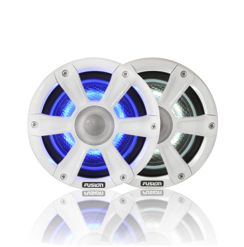 "7.7"" 280 WATT, SG-FL77SPW Coaxial Sports White Marine Speaker with LED's - 010-01428-10 - Fusion"