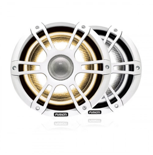 "8.8"" 330 Watt Coaxial Sports White Marine Speaker with CRGBW LED Lighting - 010-02434-10 - Fusion"
