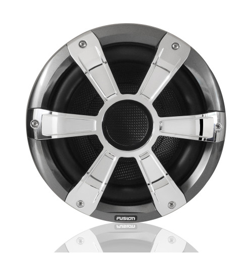 "10"" 450 WATT, SG-SL10SPC Sports Chrome Marine Subwoofer with LED's - 010-01428-21 - Fusion"