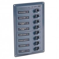 Switch Panel Vertical and Horizontal 8 Ways With Circuit Breakers - HL2694X - Hella Marine