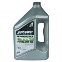 Marine Engine Oil - 4-Stroke for Outboard Oil - 4 Liter - (10W-30) - 858046QE1 - Quicksilver