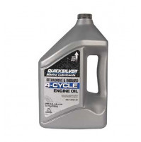 Marine Engine oil - 4-Cycle - for Sterndrive and Inboard - 4 Liters - (25W-40) - 858049QB1 - Quicksilver