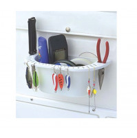 Boatmates Cuisine Caddy UV-Resistant Marine Boat Beverage and Item Organizer, White - 2133- Boat Mates