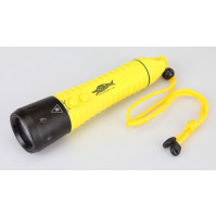 F12 white CREE XML T6 650LM 3-Mode LED Rechargeable Diving Flashlight (3x18650) - TH-AF12X - AZZI SUB