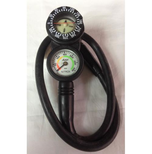 2 Element Console (Pressure + Compass) Nitrox - CO-ACSBM2N - AZZI SUB