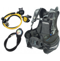 Start Scuba Set (B.C.D. Start + 1st Stage AC2 + 2nd Stage Compact + Octopus Compact INT+ Instrument Pressure Gauge) - ST-CIY721702X - Cressi