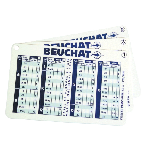 DIVE TABLE - VR-B100505 - Beuchat