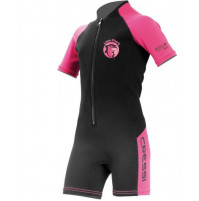 Little Shark 2 mm Kids Shorty Wetsuit for Girls - black/pink - WS-CDG003106X - Cressi