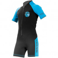 Little Shark 2 mm Kids Shorty Wetsuit for Boys - black/blue - WS-CDG003505X - Cressi
