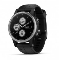 fēnix 5S Plus, Silver with Black Band - 010-01987-21 - Garmin