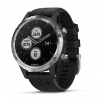fēnix 5 Plus, Silver with Black Band - 010-01988-11 - Garmin