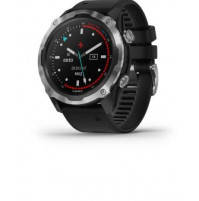 Descent Mk2, Stainless Steel with Black Band - 010-02132-10 - Garmin