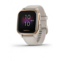 Venu Sq – Music Edition - Rose Gold Aluminium Bezel with Light Sand Case and Silicone Band - 010-02426-11 - Garmin