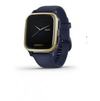 Venu Sq – Music Edition - Light Gold Aluminium Bezel with Navy Case and Silicone Band - 010-02426-12 - Garmin