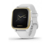 Venu Sq - Light Gold Aluminium Bezel with White Case and Silicone Band - 010-02427-11 - Garmin