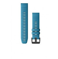 QuickFit Watch Bands for Quatix 6 - 22 mm - Cirrus Blue Silicone - 010-12863-20 - Garmin