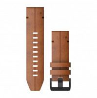 QuickFit Watch Bands for Fenix 6X - Chestnut Leather - 26 mm - 010-12864-05 - Garmin