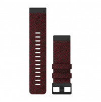 QuickFit Watch Bands for fenix 6X - Heathered Red Nylon- 26 mm - 010-12864-06 - Garmin