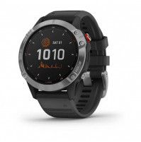fēnix 6 Solar Silver with black band - 010-02410-00 - Garmin