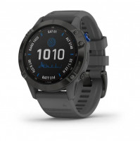 fēnix 6 - Pro Solar Edition Black with slate grey band - 010-02410-11 - Garmin