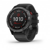 fēnix 6 - Pro Solar Edition Slate grey with black band - 010-02410-15 - Garmin