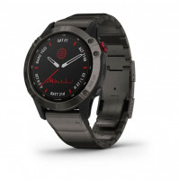 fēnix 6 - Pro Solar Edition Titanium carbon grey DLC with titanium DLC band - 010-02410-23 - Garmin