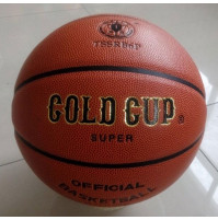 PVC Leather Basketball - 12 Panels - Available in Different Sizes - TSSRB6P-5X - Gold Cup